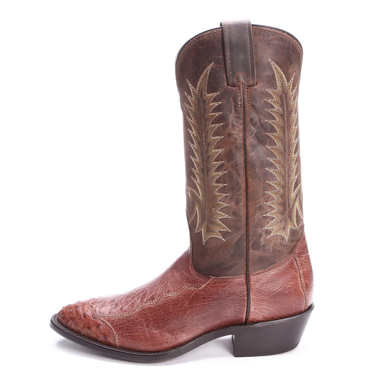 1500x1500 Nocona Mens Antique 4 Piece Ostrich Cowboy Boots Dark Chocolate