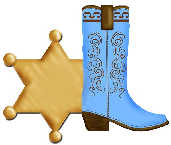 600x512 Blue Cowboy Boot And Badge Clip Art Clip Art Everyday For Cards