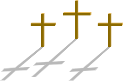 400x264 3 Crosses Clipart