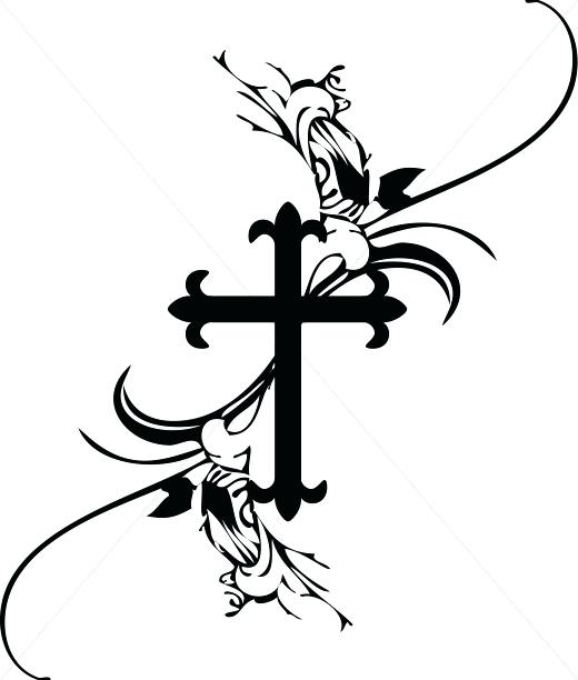 520x612 Crosses Clipart French Cross Easter Lily Cross Clip Art Free