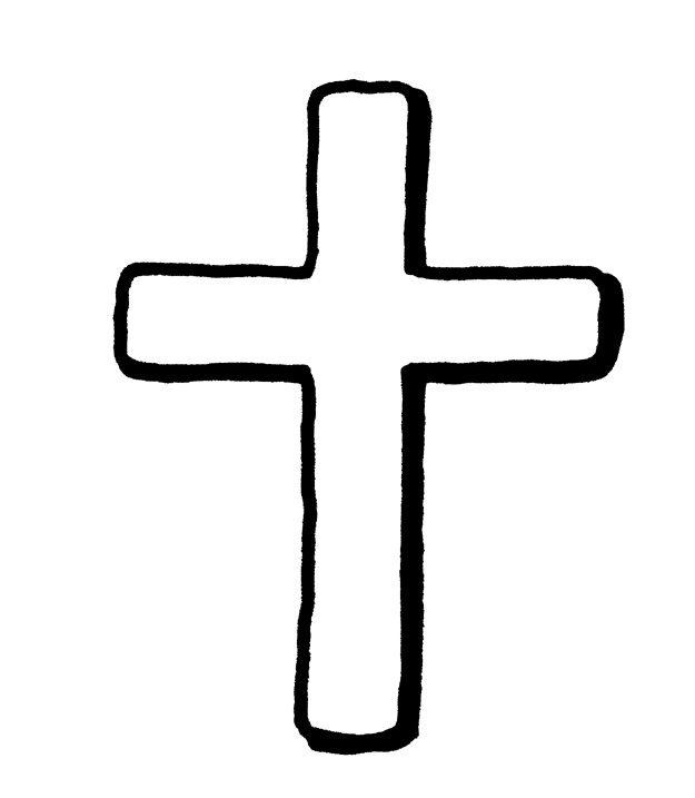 625x717 Rough, Hand Drawn Cross