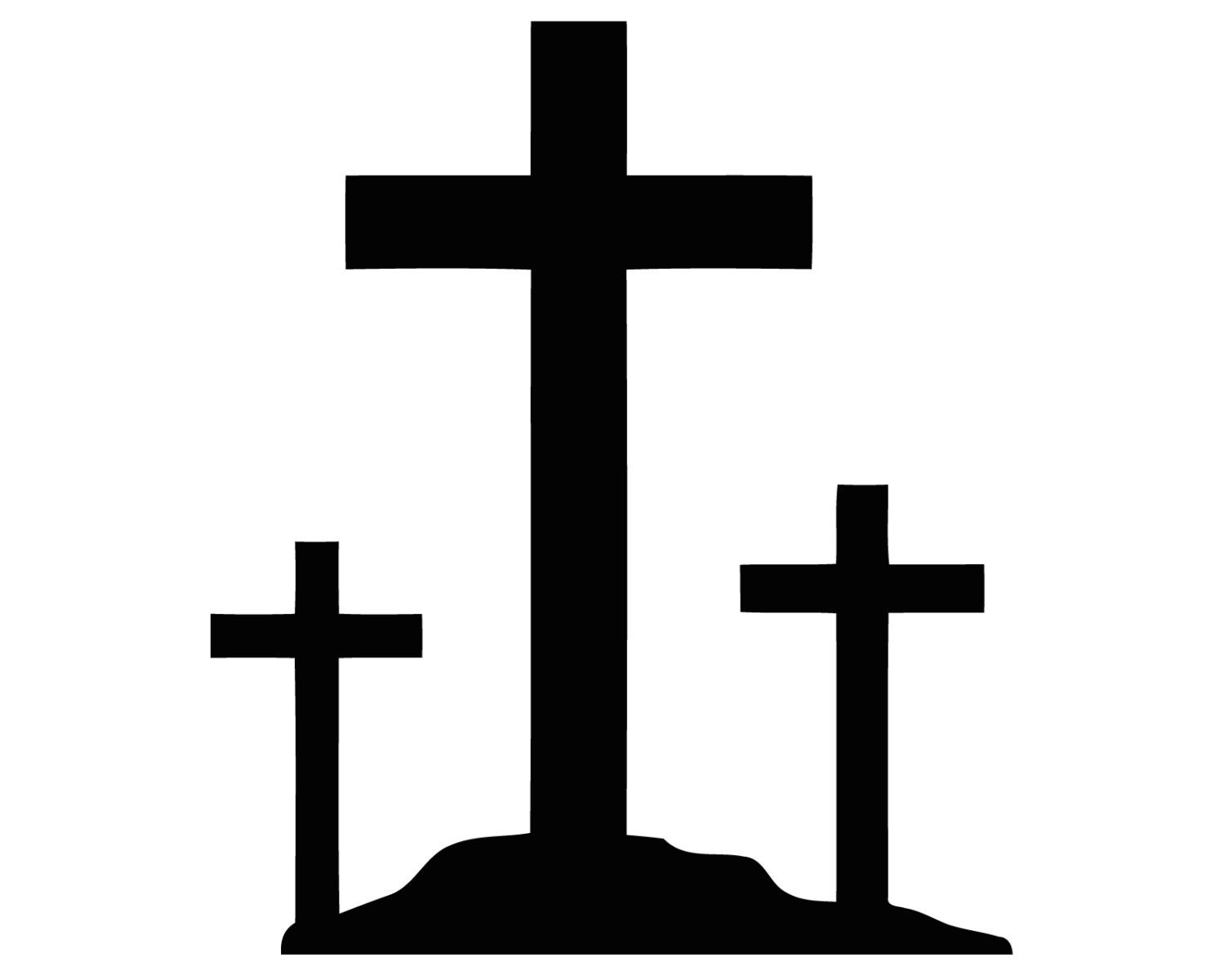 1500x1200 Three Crosses Clipart