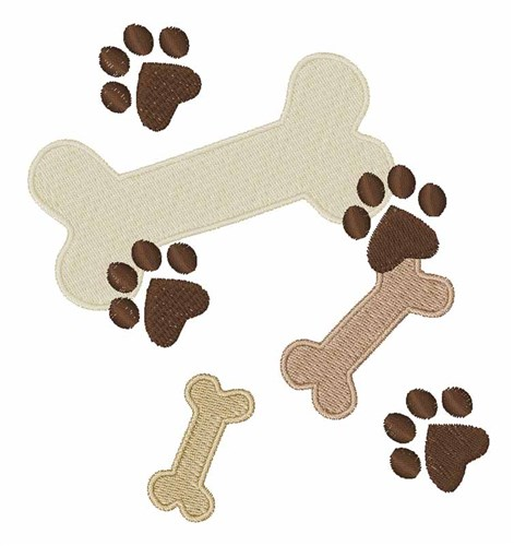 471x500 Dog Bones Embroidery Designs, Machine Embroidery Designs