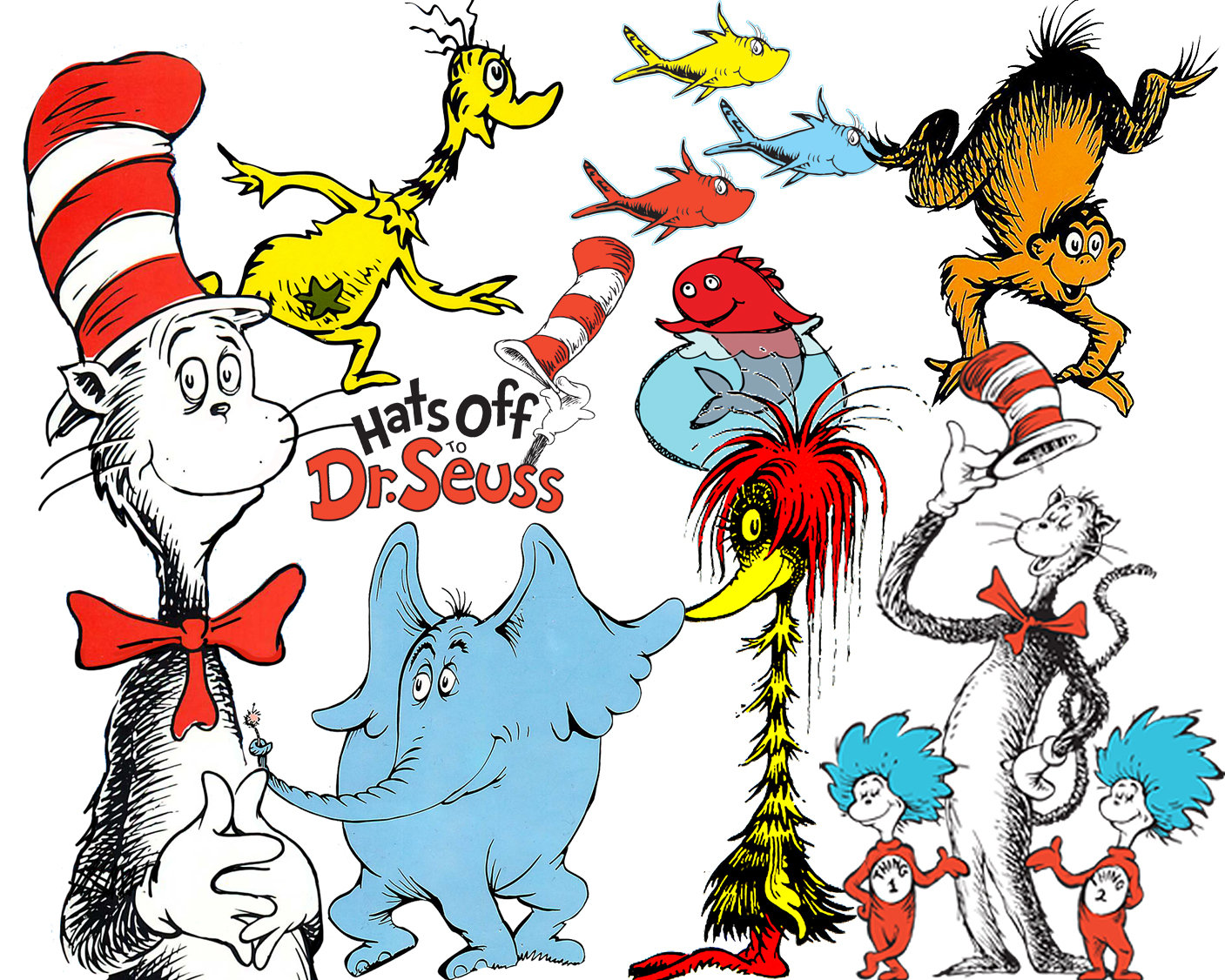 1407x1126 Best Collection Of 74 Dr. Seuss Clipart 74 High Quality Dr.