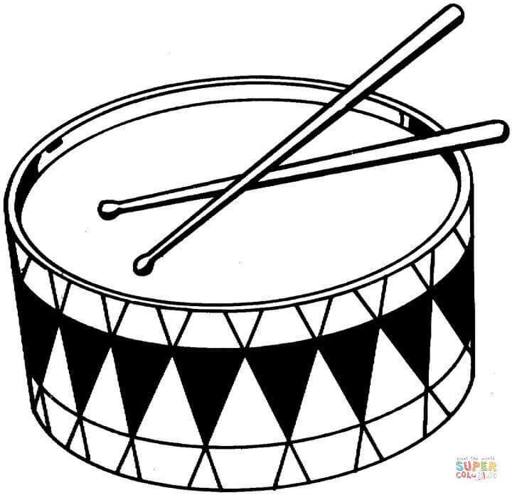 720x697 Drums Coloring Page Free Printable Coloring Pages