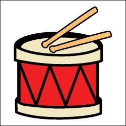 250x250 Snare Drums Clipart