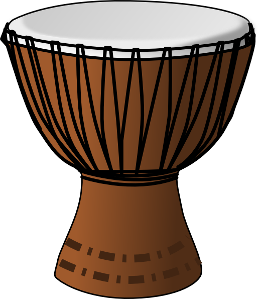516x595 African Drumming Clipart