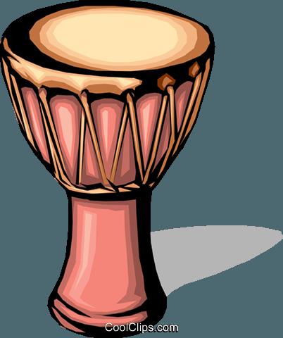 402x480 African Drum Royalty Free Vector Clip Art Illustration Arts0002