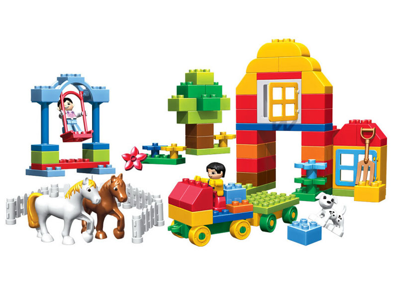 800x589 Kid's Home Toy Large Size Happy Farms Ranch Animals Model Building