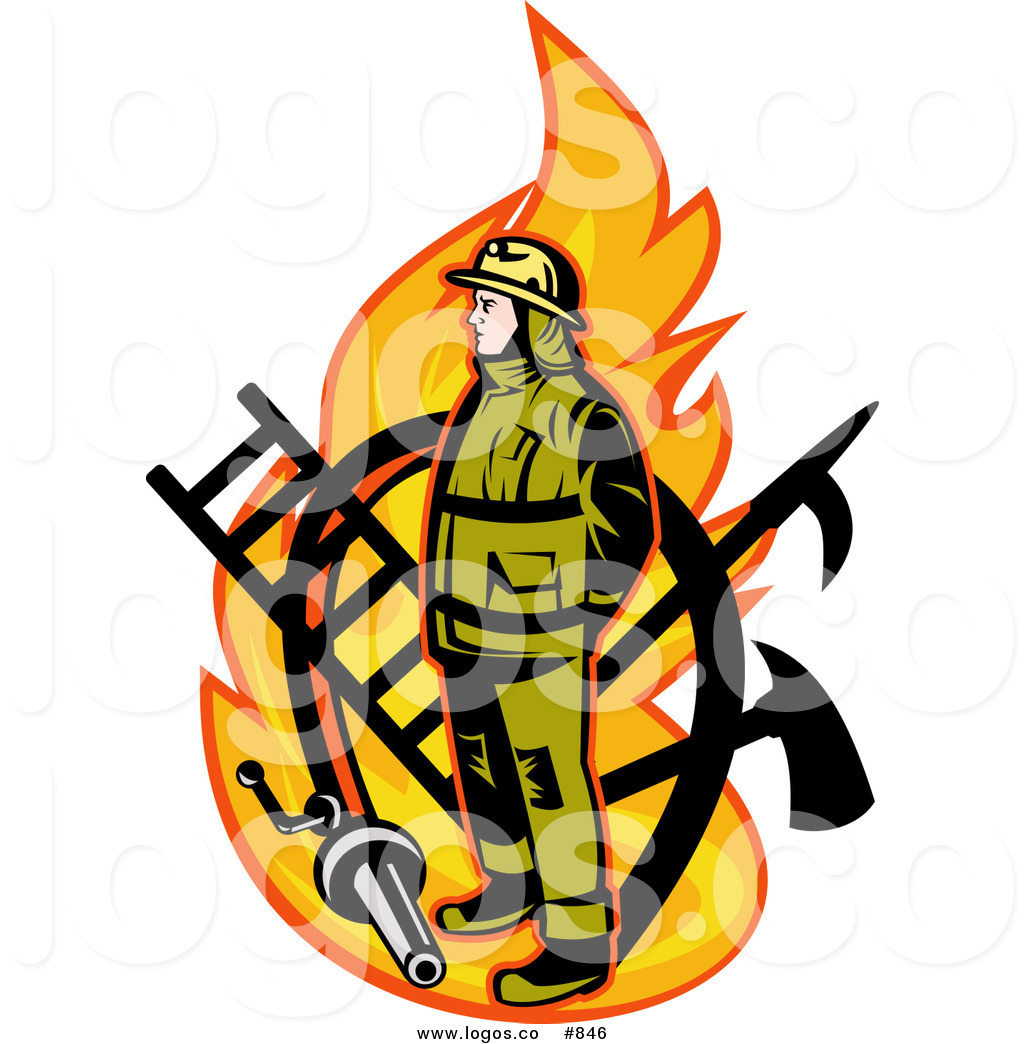 1024x1044 Royalty Free Vector Logo Of A Fireman By Patrimonio