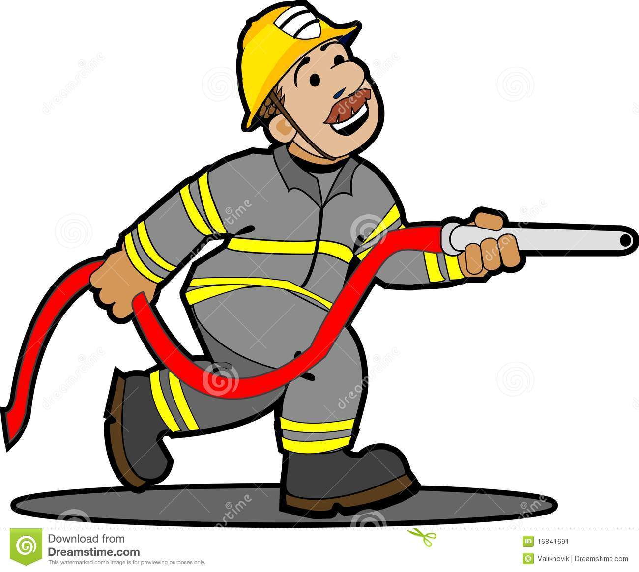 1300x1164 Cartoon Fireman With Hose Images Amp Pictures