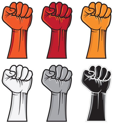 456x499 Clenched Fist Clip Art, Vector Clenched Fist