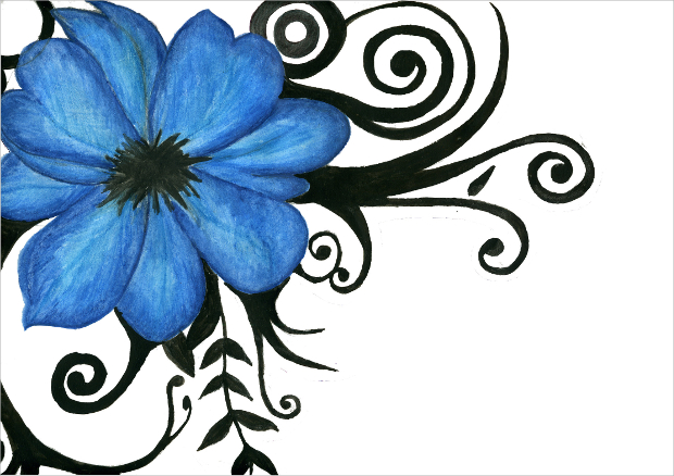 620x438 Flower Drawings, Sketches Design Trends