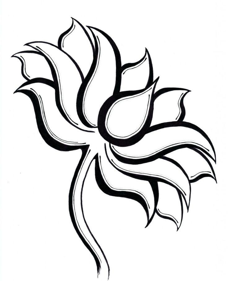 736x904 Photos Lotus Flower Line Drawing,