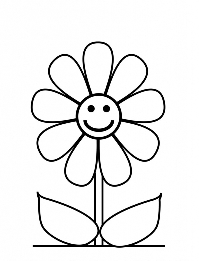 783x1024 Simple Drawing Flowers How To Draw A Simple Flower For Children
