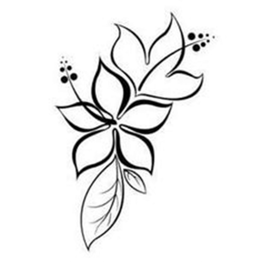 It is a picture of Lively Simple Lotus Flower Drawing