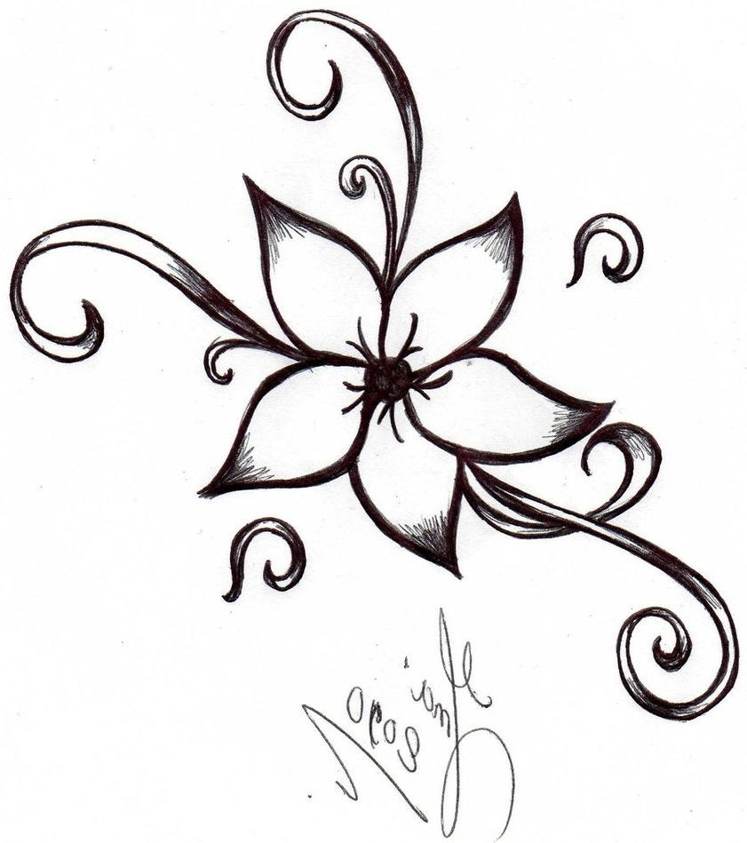 841x949 Cool And Easy Flowers To Draw Cool Simple Flower Designs To Draw