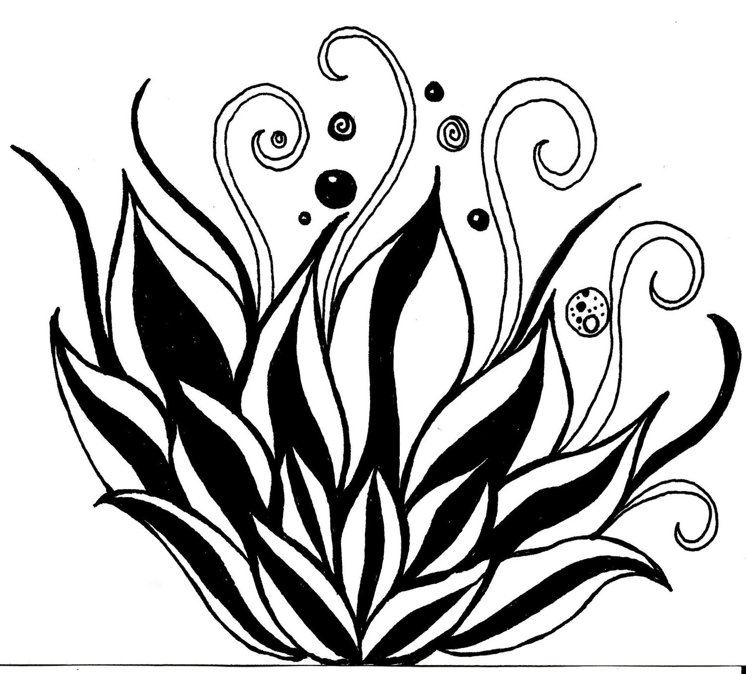 1500x1356 Black And White Flower Drawings Pics Flower Draw Black And White