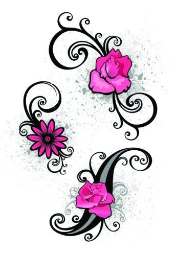344x495 Flower Tattoos On Foot Small Tattoo Designs, Small Tattoo