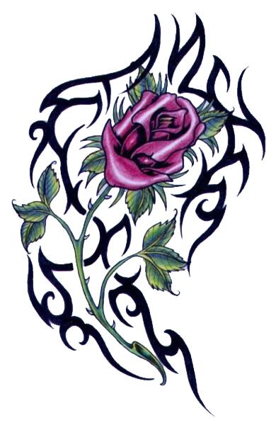 390x600 Free Flower Tattoo Designs