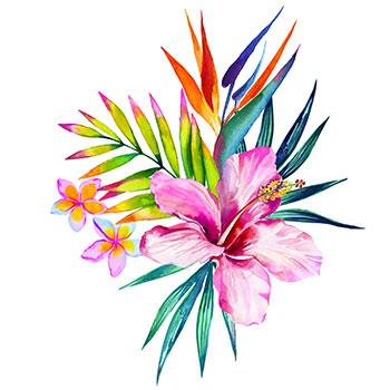 350x350 Hawaiian Flower Tattoo Designs