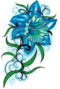 236x348 Future Tattoo With Julie's Name December Flower And Turquoise