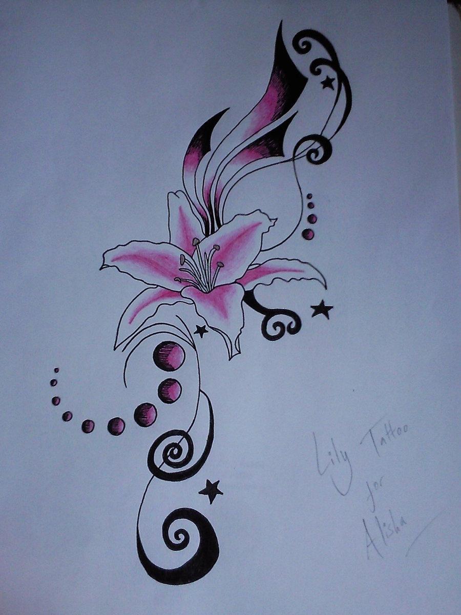 Pictures of flower tattoo designs free download best pictures of 900x1200 pink lily flower tattoo design izmirmasajfo