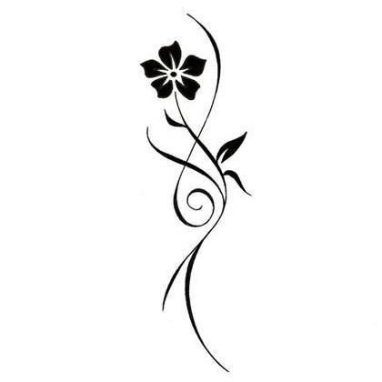 420x420 Tattoo Clipart Floral Design