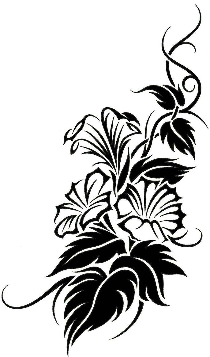 686x1165 Tribal Flower Tattoo Designs