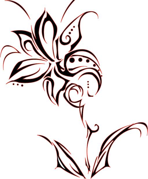 511x621 Tumblr Tribal Flower Tattoo Design 2015