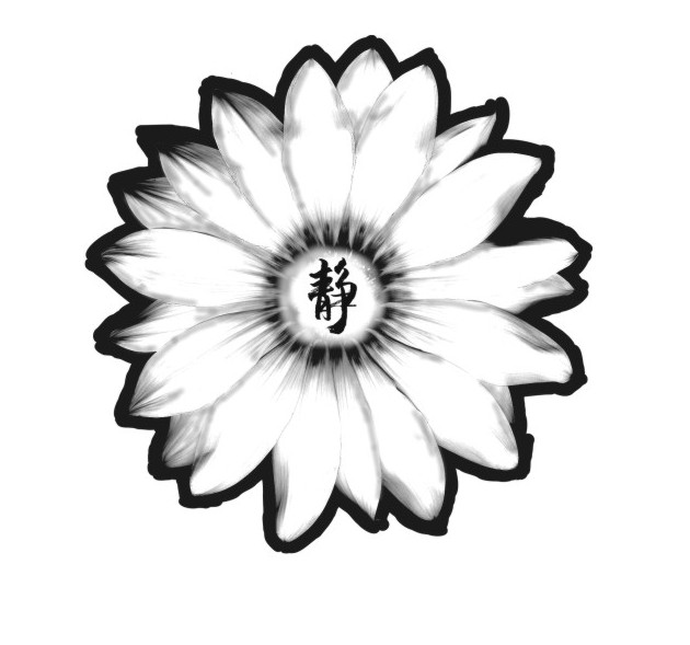 630x589 Asian Flower Tattoo Design By Wallaceharkness123