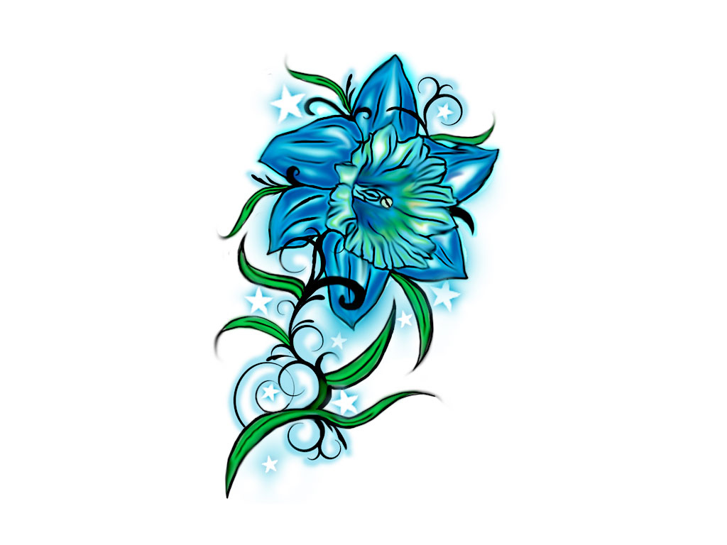 1024x768 Flower Drawings For Tattoos Free Designs