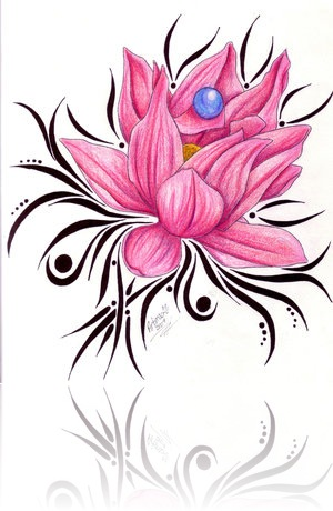300x460 35 Flower Tattoo Design Samples And Ideas
