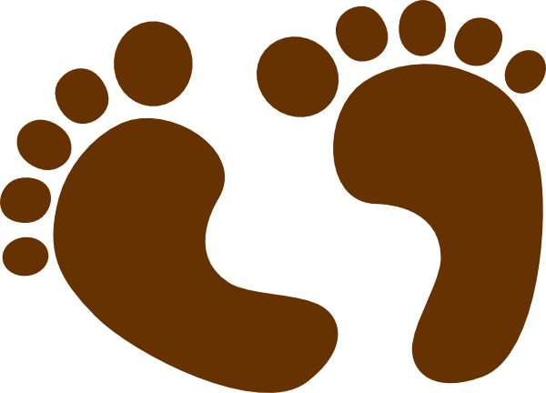 600x432 Free Baby Brown Foot Prints Clipart