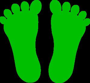 297x273 Green Footprints Clip Art