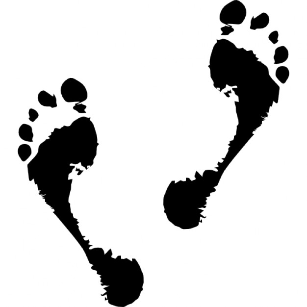 626x626 Human Footprints Outline Icons Free Download