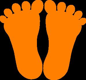 298x279 Orange Footprints Clip Art