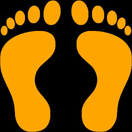 512x512 Orange Clipart Footprints