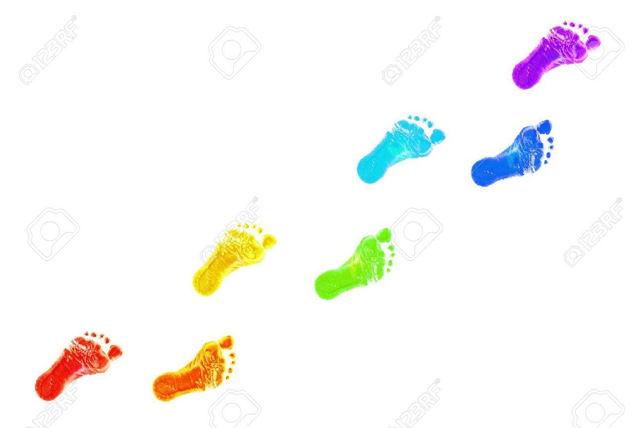 1300x866 Baby Footprints Print Clipart