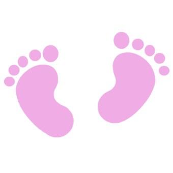 340x340 Pink Baby Footprints Baby Girl Footprint Clip Art Xd77tf Clipart
