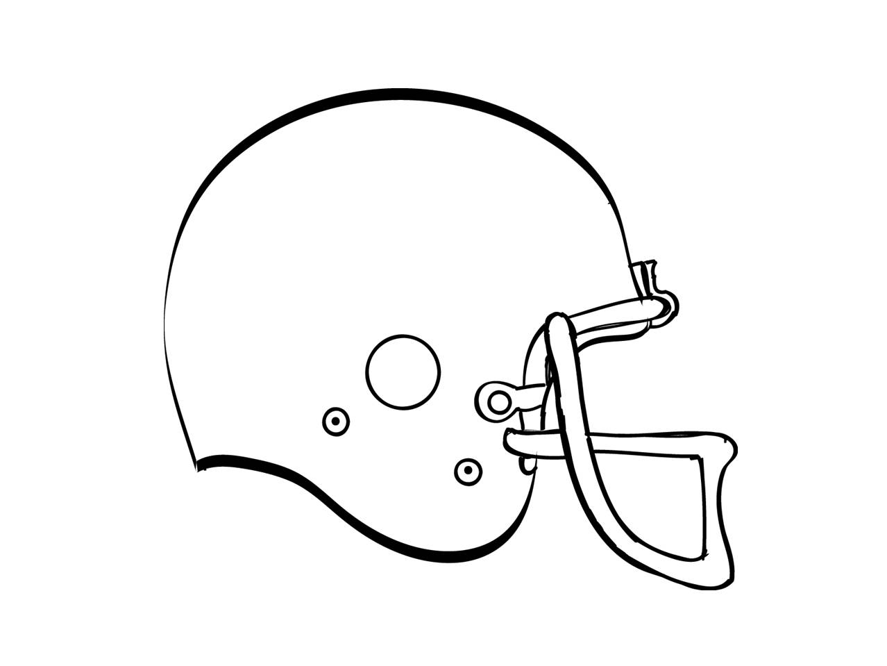 1278x959 Free Black And White Football Helmets Clipart