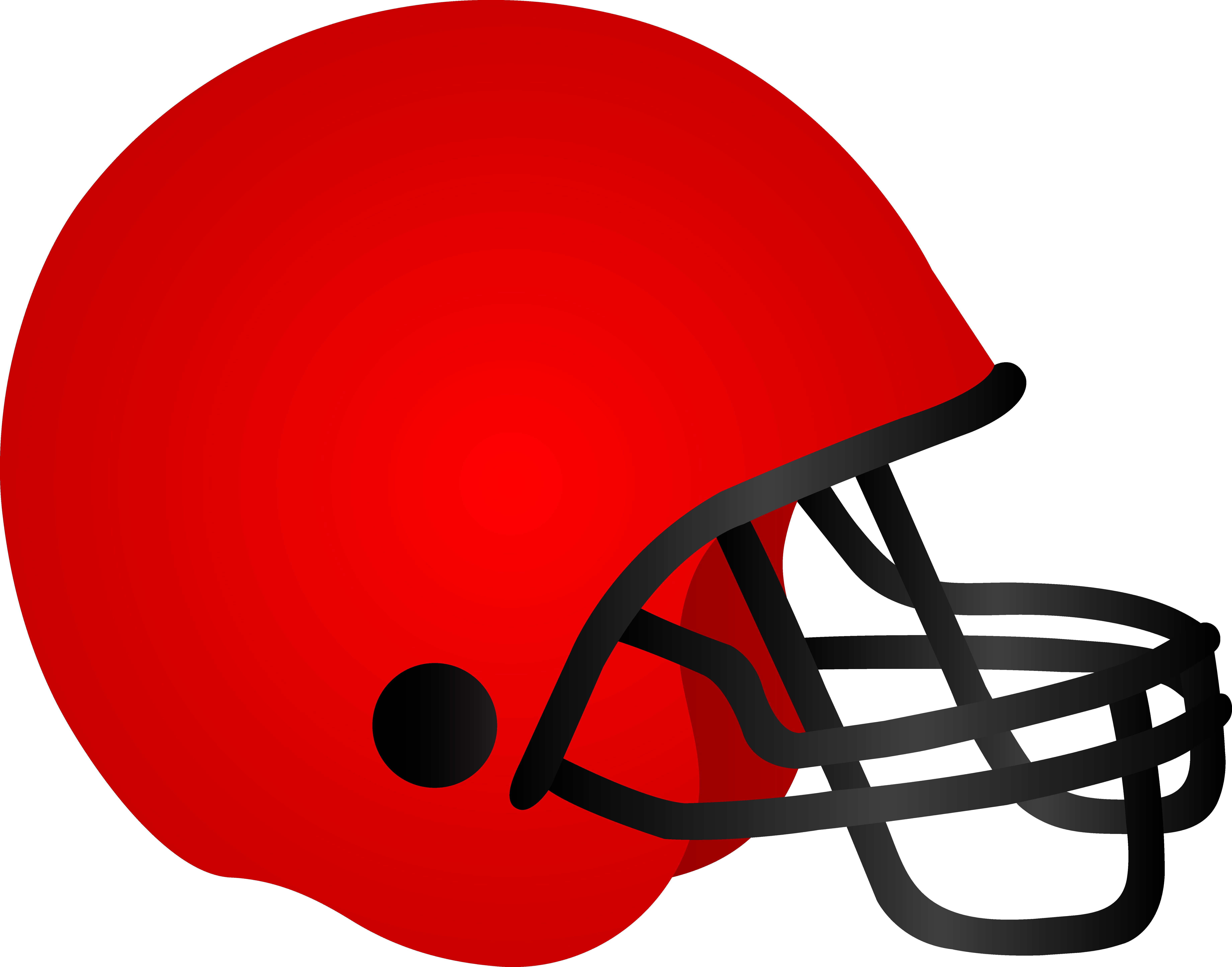 7362x5777 Red Football Helmets Clipart