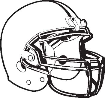 350x325 Football Helmets Clipart