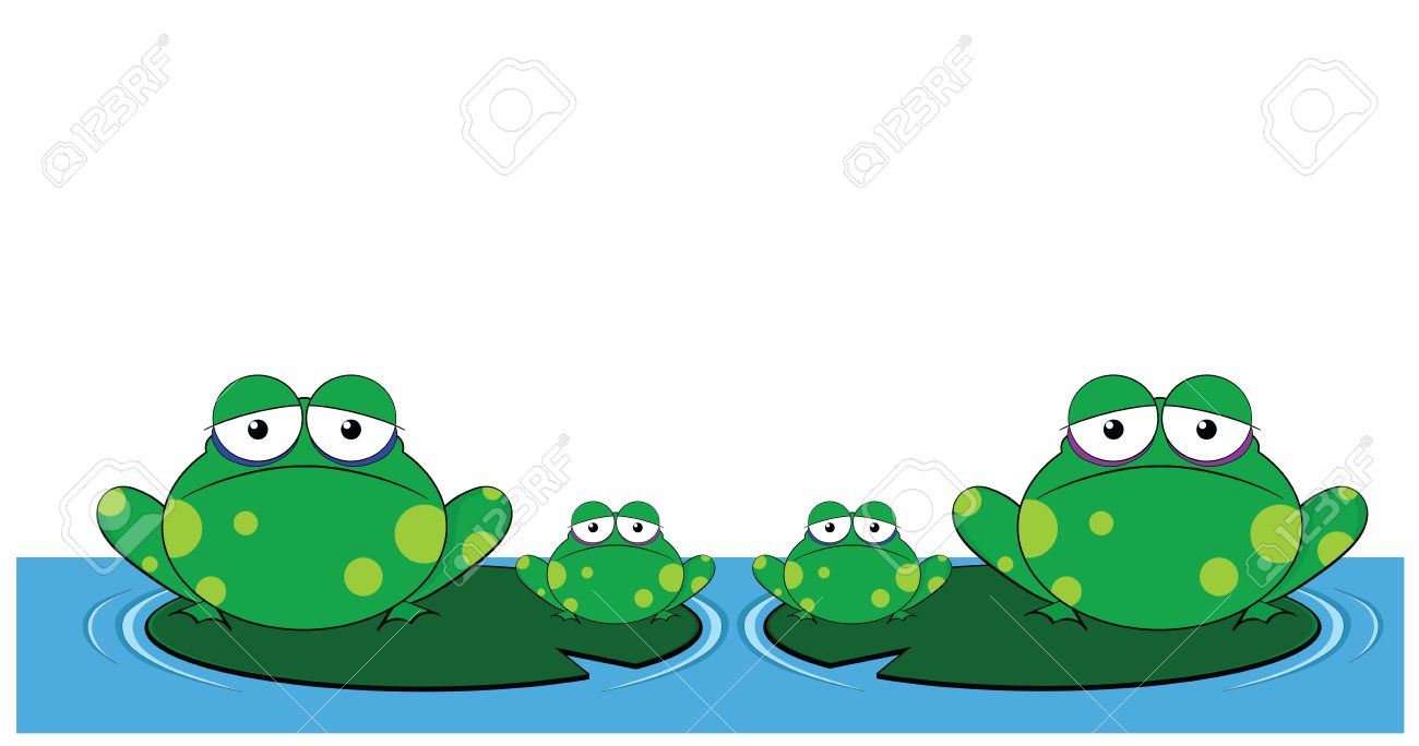 1300x684 Clipart of frogs on lily pads