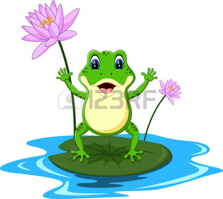 450x403 Frog On Lily Pad Stock Photos. Royalty Free Frog On Lily Pad