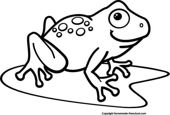 562x380 Best Cute Frog on Lily Pad Clipart