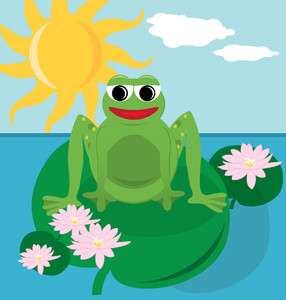 286x300 Pond clipart lilly pad