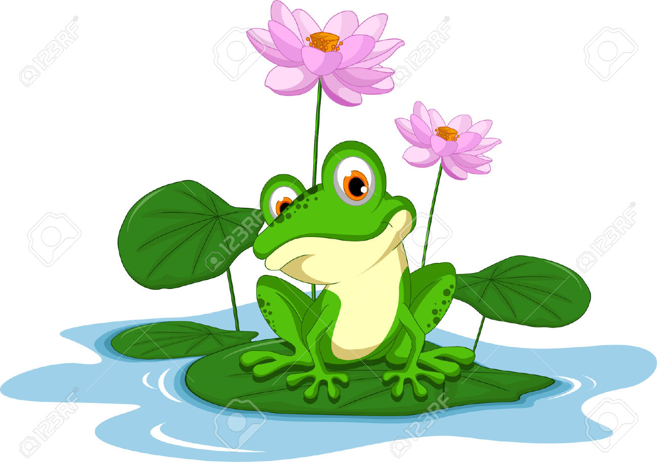 1300x914 Water Lily clipart cartoon