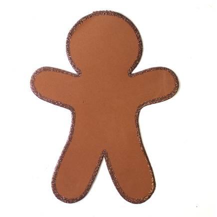 435x435 Christmas Gingerbread Man Foam Shape 4 Pack Hobbycraft