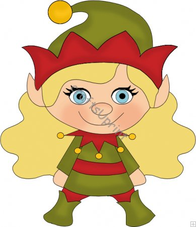 389x450 Girl Elf Clipart